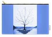 Roots Of A Tree In Blue Carry-all Pouch