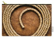 Rope On Leather Carry-all Pouch