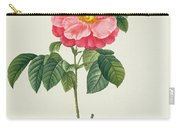 Rosa Gallica Flore Marmoreo Carry-all Pouch by Pierre Joseph Redoute