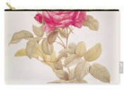 Rosa Gallica Pontiana Carry-all Pouch by Pierre Joseph Redoute