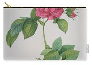 Rosa Turbinata Carry-all Pouch by Pierre Joseph Redoute