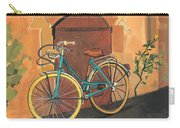 Rose And Bicycle Carry-all Pouch