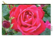 Rose And Buds - Double Knock Out Rose Carry-all Pouch