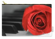 Rose And Piano Carry-all Pouch