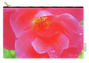Rose And Raindrops Carry-all Pouch