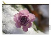 Rose And Snow Carry-all Pouch