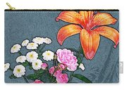 Rose Baby Breath And Lilly Carry-all Pouch