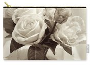 Rose Bouquet In Vinatage Carry-all Pouch
