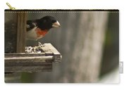 Rose Breasted Grosbeak Feeding Carry-all Pouch