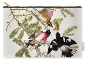 Rose Breasted Grosbeak Carry-all Pouch by John James Audubon