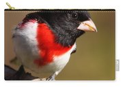 Rose-breasted Grosbeak Squared Carry-all Pouch