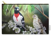 Rose Breasted Grosbeaks Carry-all Pouch