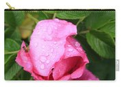 Rose Bud And Bee Carry-all Pouch