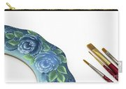 Rose Drawing On Wreath, Tole And Decorative Painting, American S Carry-all Pouch