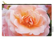Rose Floral Art Print Peach Pink Roses Garden Canvas Baslee Troutman Carry-all Pouch