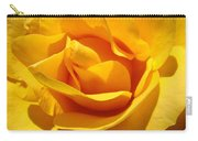Rose Flower Orange Yellow Roses 1 Golden Sunlit Rose Baslee Troutman Carry-all Pouch