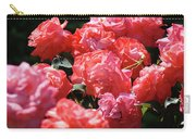 Rose Garden Art Prints Pink Red Rose Flowers Baslee Troutman Carry-all Pouch
