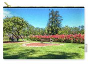 Rose Garden Benches Impressionist Digital Painting Carry-all Pouch
