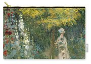 Rose Garden Carry-all Pouch by Claude Monet