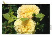 Rose Garden Floral Art Print Yellow Roses Canvas Baslee Troutman Carry-all Pouch
