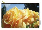 Rose Garden Yellow Peach Orange Roses Flowers 3 Botanical Art Baslee Troutman Carry-all Pouch