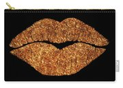 Rose Gold Texture Kiss, Lipstick On Pouty Lips, Fashion Art Carry-all Pouch