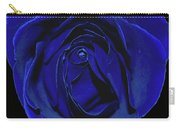 Rose Heart In Blue Velvet Carry-all Pouch