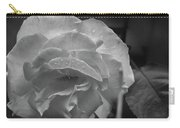 Rose In Black And White Carry-all Pouch by Kelly Hazel