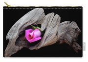 Rose In Driftwood 2 Carry-all Pouch