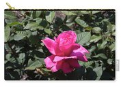 Rose In Flower Bed Carry-all Pouch