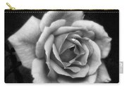 Rose In Mono. #flower #flowers Carry-all Pouch