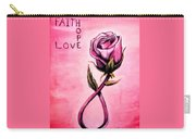 Rose Of Hope Carry-all Pouch