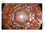 Rose Of Life Copper Lightmandala Carry-all Pouch