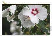 Rose Of Sharon And Bee Carry-all Pouch