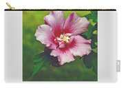 Rose Of Sharon Blossom Carry-all Pouch