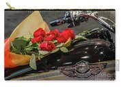 Harley Davidson And Roses Carry-all Pouch