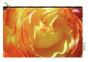 Rose Orange Yellow Roses Floral Art Print Nature Baslee Troutman Carry-all Pouch