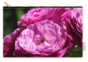Rose Pink Purple Roses Flowers 1 Rose Garden Sunlit Flowers Baslee Troutman Carry-all Pouch