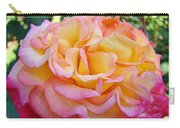 Rose Pink Yellow Rose Flower 2 Rose Garden Giclee Prints Baslee Troutman Carry-all Pouch
