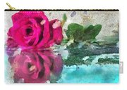 Rose Reflected Fragmented In Thick Paint Carry-all Pouch