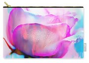 Rose Soft Pink Silked In Thick Paint Carry-all Pouch