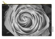 Rose Spiral Black And White Carry-all Pouch by James BO  Insogna