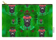 Rose Sugar Skull In Fern Garden Carry-all Pouch