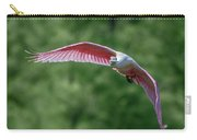 Roseate Spoonbill In Flight 2 Carry-all Pouch