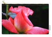 Rosebud And Dewdrops  Carry-all Pouch