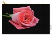 Rosebud On Black Carry-all Pouch