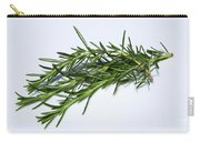 Rosemary Isolated On White Carry-all Pouch