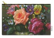 Roses And Pansies Carry-all Pouch