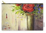 Roses And Woman Carry-all Pouch