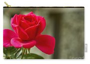 Red Rose Wall Art Print Carry-all Pouch